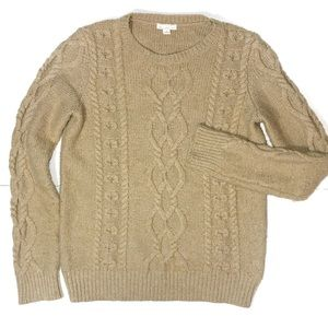 Gap Women's Cable Knit Tan Sweater Size Small